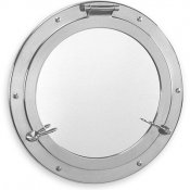 Chrome plated mirrored portholes
