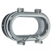 Chrome plated oval portholes