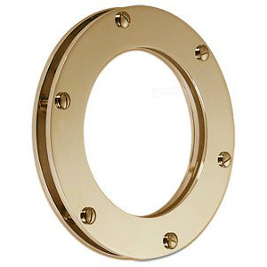 Round Non Opening Window Made From Brass Ø 15cm